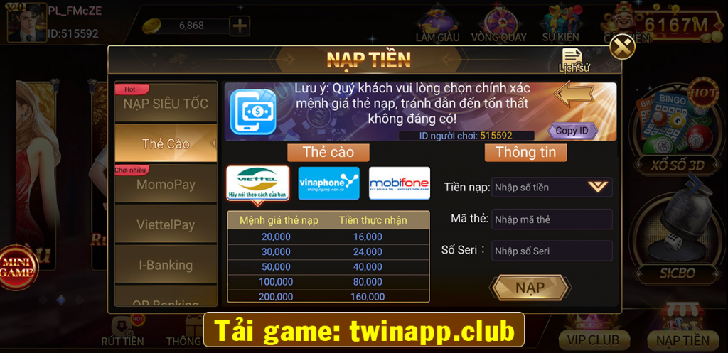 cổng game twin68